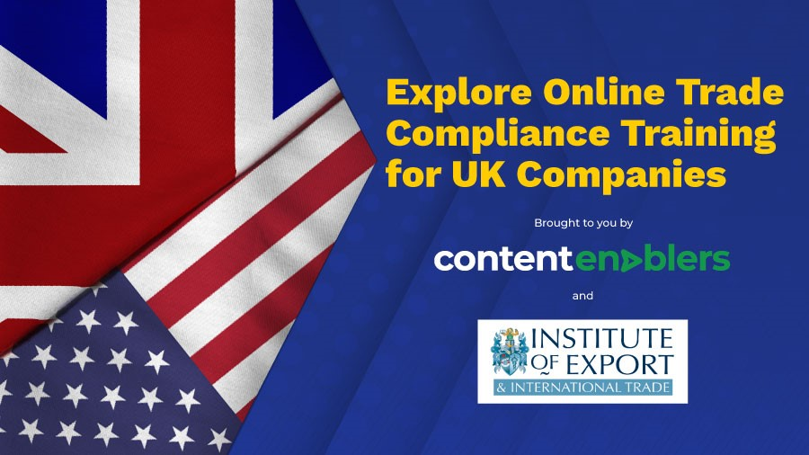 Explore online trade compliance training for UK companies